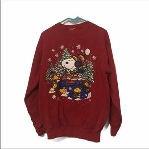 Vintage Snoopy ugly Christmas sweater Sz medium